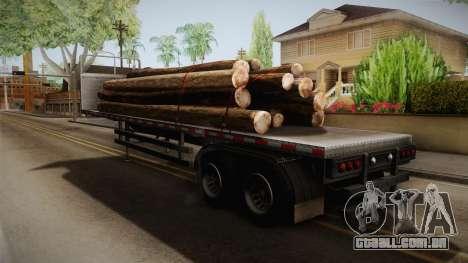 GTA 5 Log Trailer v2 IVF para GTA San Andreas traseira esquerda vista
