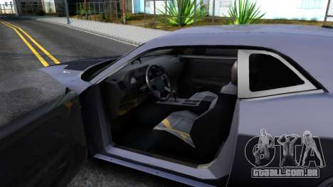 Dodge Challenger Unmarked 2010 para GTA San Andreas vista interior