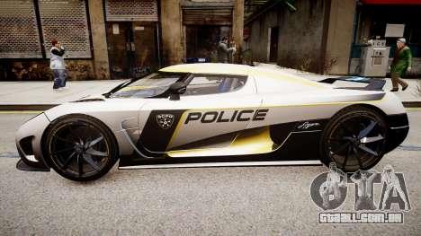 Koenigsegg Agera Police 2013 para GTA 4