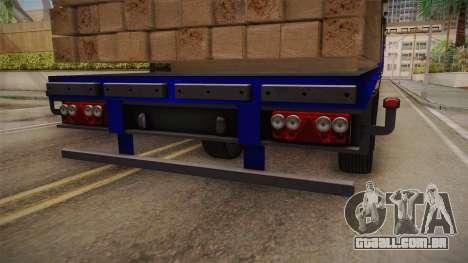 Flatbed Trailer Blue para GTA San Andreas