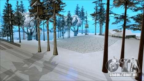 De inverno, mod para GTA San Andreas terceira tela