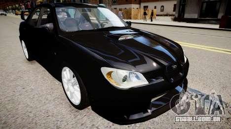 Subaru Impreza WRX STI Spec C Type RA-R 2007 para GTA 4