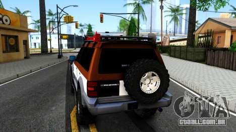 Mitsubishi Pajero Off-Road para GTA San Andreas traseira esquerda vista