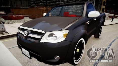 Toyota Hilux 2010 2 doors para GTA 4