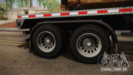 GTA 5 Log Trailer v2 IVF para GTA San Andreas vista traseira
