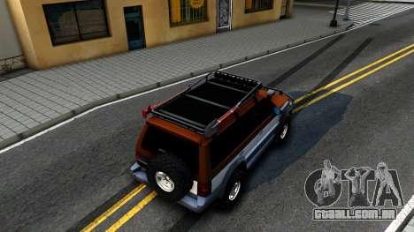 Mitsubishi Pajero Off-Road para GTA San Andreas vista traseira