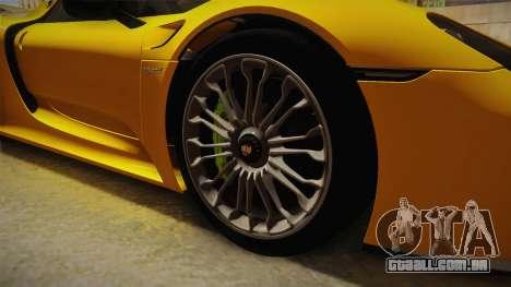 Porsche 918 Spyder 2013 EU Plate para GTA San Andreas