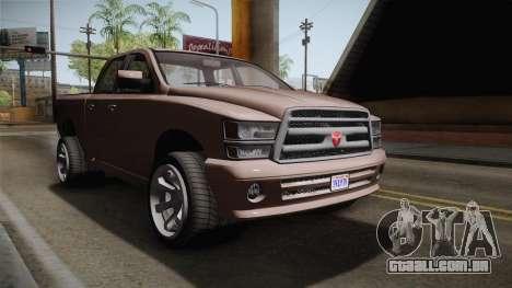 GTA 5 Bravado Bison IVF para GTA San Andreas