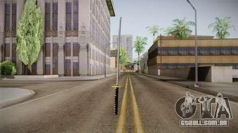 High Poly Katana para GTA San Andreas