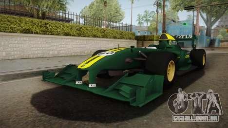 F1 Lotus T125 2011 v1 para GTA San Andreas