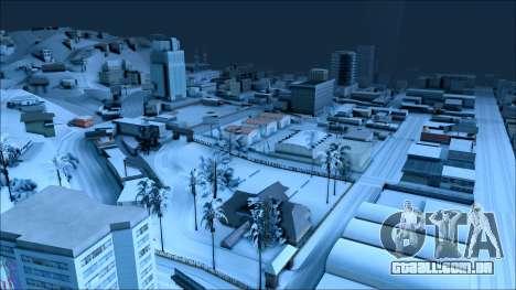De inverno, mod para GTA San Andreas por diante tela