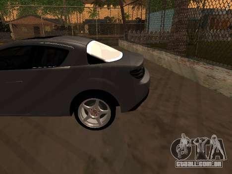 Mazda RX-8 para GTA San Andreas vista inferior