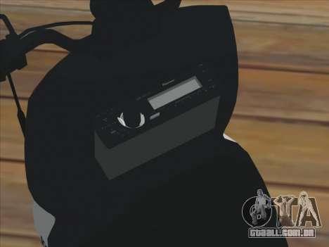 GTA IV Faggio Traveler para GTA San Andreas traseira esquerda vista