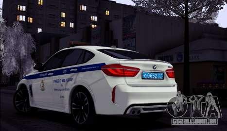 BMW X6M 2015 Russian Police para GTA San Andreas