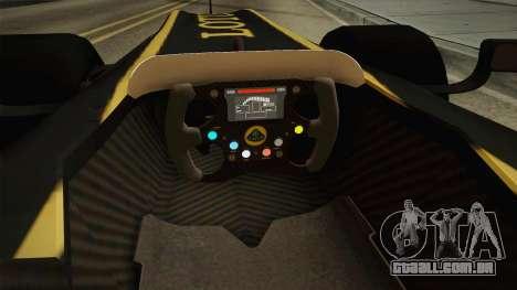 F1 Lotus T125 2011 v3 para GTA San Andreas