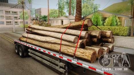 GTA 5 Log Trailer v2 IVF para GTA San Andreas vista interior