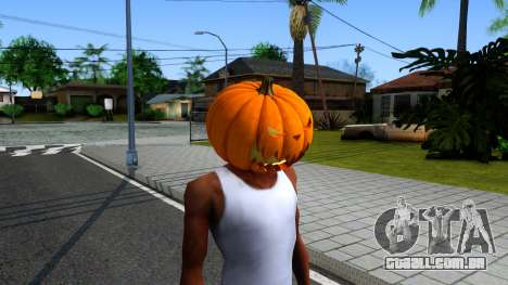 Pumpkin Mask Celebrating Halloween para GTA San Andreas