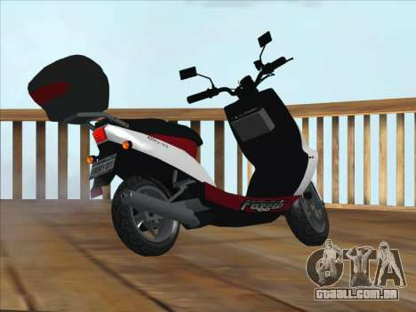 GTA IV Faggio Traveler para GTA San Andreas esquerda vista