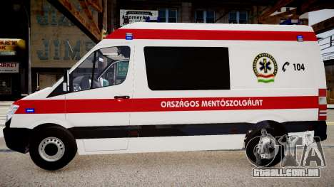 Hungarian Mercedes Sprinter Ambulance para GTA 4