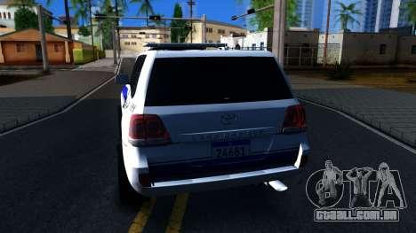 Toyota Land Cruiser Police para GTA San Andreas