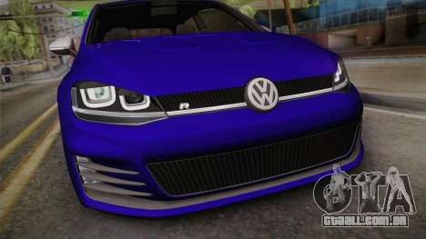 Volkswagen Golf 7R 2015 Beta V1.00 para GTA San Andreas