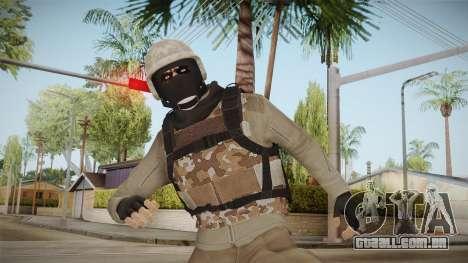 GTA Online Military Skin Beige para GTA San Andreas