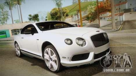 Bentley Continental GTV8S para GTA San Andreas