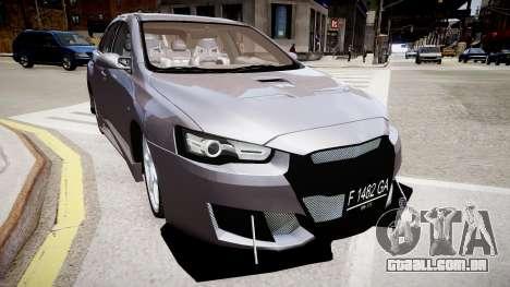 Mitsubishi Lancer Evo X para GTA 4