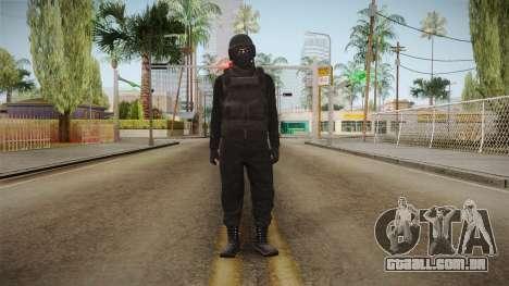GTA Online Military Skin Black-Negro para GTA San Andreas