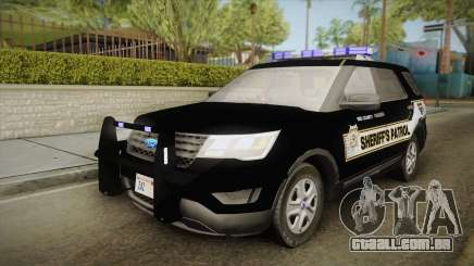 Ford Explorer 2016 Red County Sheriffs Office para GTA San Andreas
