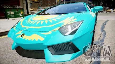 Lamborghini Aventador com uma bandeira do Cazaquistão para GTA 4