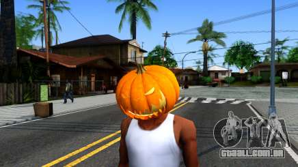 Pumpkin Mask Celebrating Halloween para GTA San Andreas