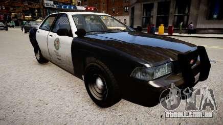 O carro de polícia do GTA V para GTA 4