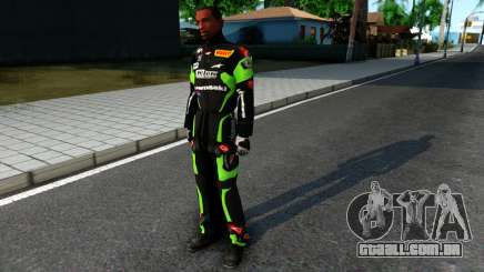 Kawasaki Racing Suit para GTA San Andreas