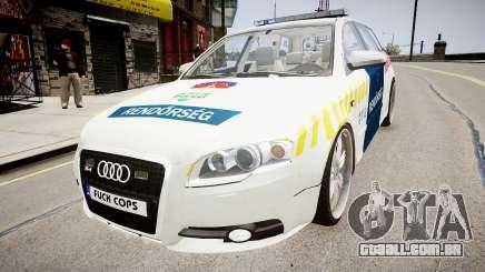 Hungarian Audi Police Car para GTA 4