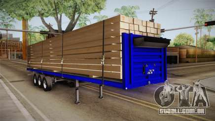 Flatbed Trailer Blue para GTA San Andreas