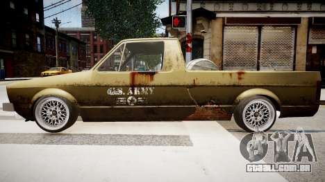 Volkswagen Caddy US Army para GTA 4 esquerda vista