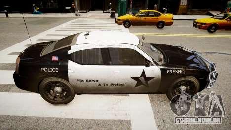 Dodge Charger Police para GTA 4 esquerda vista