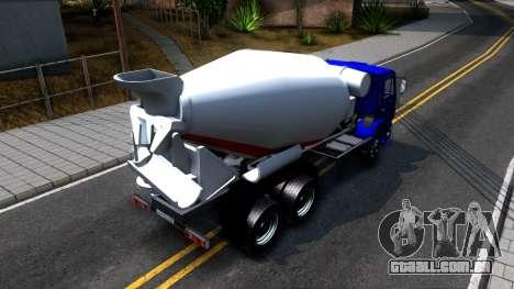 KamAZ 65115 Mixer Caminhão para GTA San Andreas vista traseira