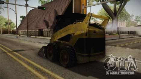 Demolition Company - Skid Steer Loader para GTA San Andreas traseira esquerda vista
