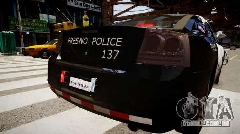 Dodge Charger Police para GTA 4 traseira esquerda vista