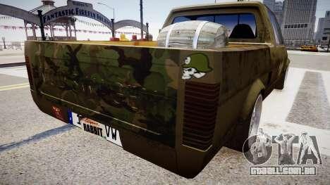Volkswagen Caddy US Army para GTA 4 traseira esquerda vista