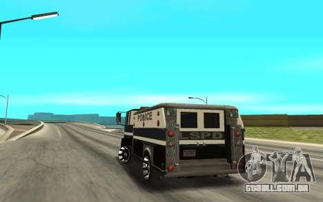 DFT30 Enforcer para GTA San Andreas traseira esquerda vista