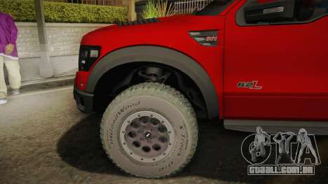 Ford F-150 SVT Raptor Elite 2014 para GTA San Andreas
