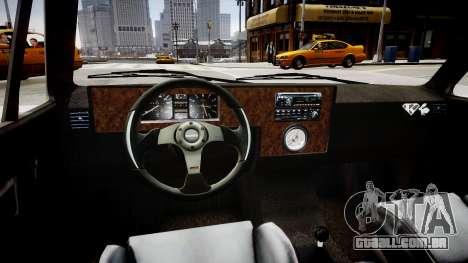 Volkswagen Caddy US Army para GTA 4 vista interior