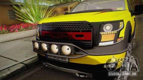 Ford F-150 Raptor FSHH para GTA San Andreas