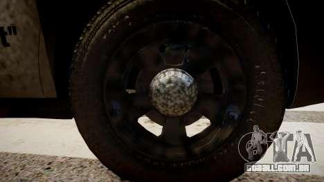 Dodge Charger Police para GTA 4 vista de volta