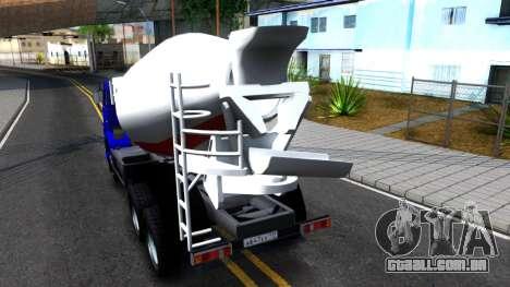 KamAZ 65115 Mixer Caminhão para GTA San Andreas traseira esquerda vista