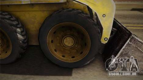 Demolition Company - Skid Steer Loader para GTA San Andreas vista traseira