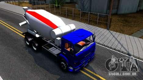 KamAZ 65115 Mixer Caminhão para GTA San Andreas vista direita